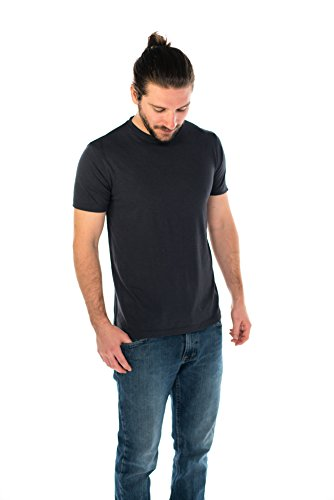 ONNO Men's Bamboo T-Shirt L Charcoal Blue
