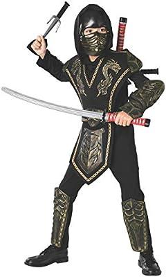 Disfraz de ninja - Set de armas ninja, katanas a la espalda - talla única (Rubies 6672)