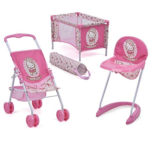 Hello Kitty 3Piece Doll Playset (Hello Kitty Car Seat And Stroller Set)