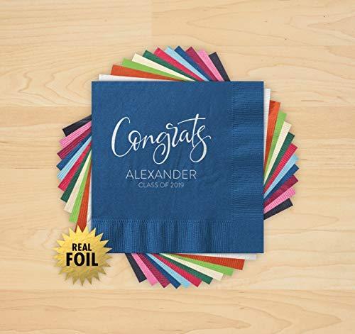 Congrats Grad Foil Napkins - Set of 100-4217_HOL
