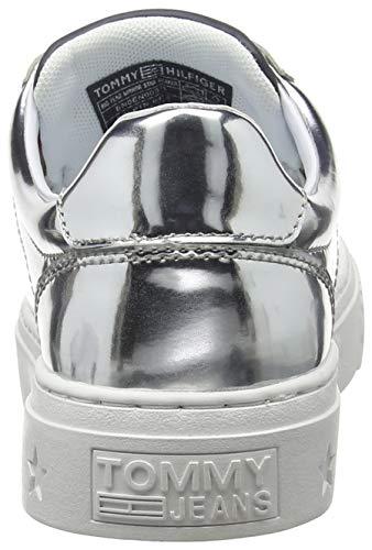 Ginnastica Sneaker Denim Donna Flag Hilfiger silver Scarpe Da Argento Big Mirror 000 Star Basse v8XqXZx