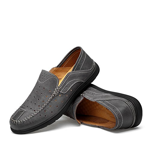 En Gray Soleboat Zapatos Ofgcfbvxd Soft 42 Black Hombres Amplios Patch Penny Eu Rubber Casuales Hollwo Mocasines Vamp Más Deslizamiento Ligero Tamaño Para Loafers color Conducción pSvnOrpq
