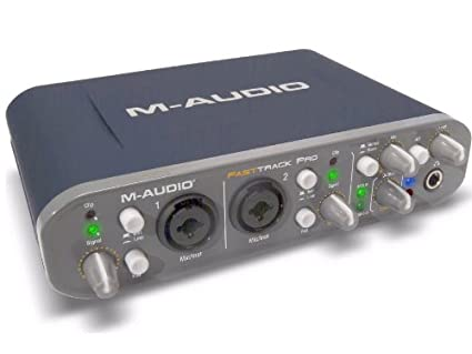 M-Audio 9900-65145-12 Fast Track Pro - 4 x 4 Mobile USB Audio/MIDI  Interface with Preamps