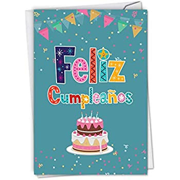 Amazon.com: Hallmark Vida Spanish Birthday Greeting Card for ...