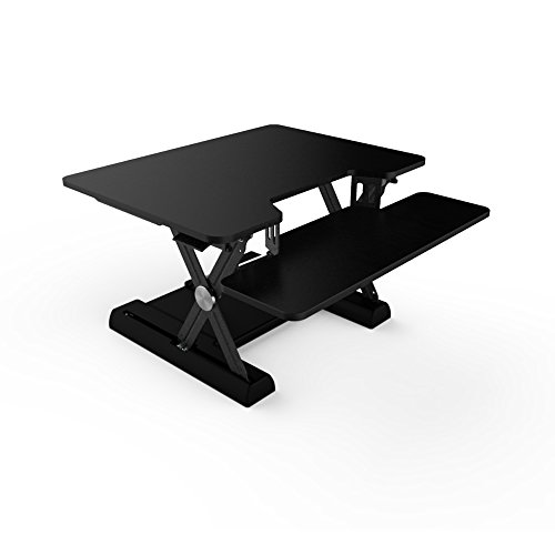 OLLO: Variable height, sit-stand workstation with gas spring power, 30'' wide, 4.4-17.5'' lift (OD-30 Black) by OLLO (Image #3)