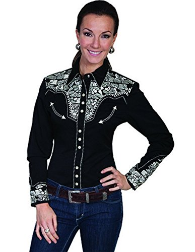 scully-womens-floral-embroidered-blue-retro-western-shirt-silver-large