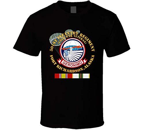 (XLARGE - Army - 501st Infantry Regiment - Ft Richardson, AK w COLD SVC - T shirt - Black)