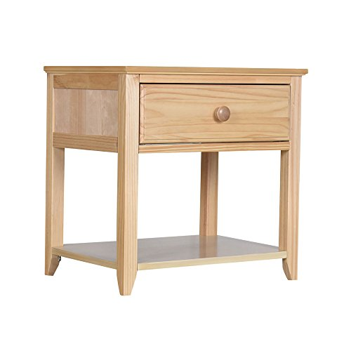 (Max & Lily Solid Wood Nightstand, Natural)