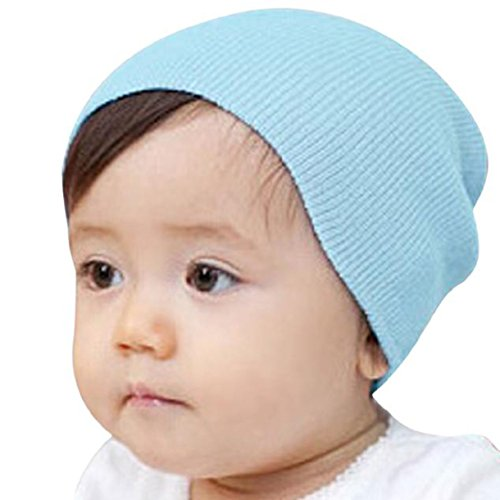 Blue Flower Plain Dinnerware (Lookatool Baby Beanie Boy Girls Soft Hat Children Winter Warm Kids Cap (Light Blue))