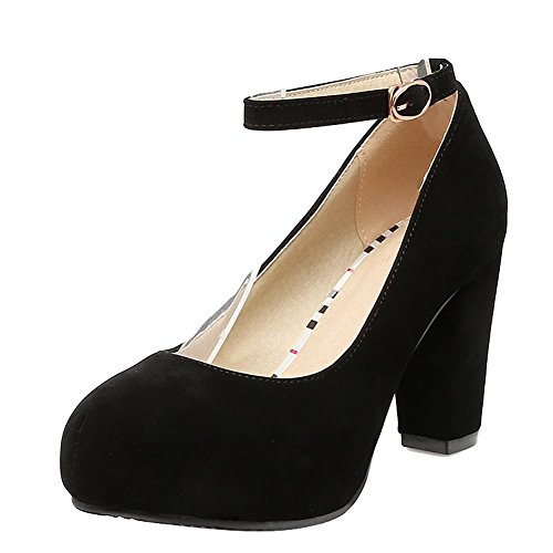 Alto Scarpe Tacco nero MissSaSa e colore3 Dolce Nubuck Donna Elegante col wHTA6qp