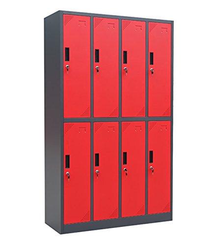 noir Kraftmeister armoire /à casiers locker Blackline 8 portes rouge