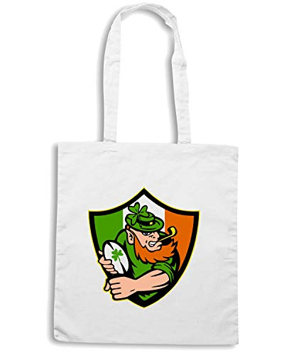 Borsa Bianca LEPRECHAUN RUGBY IRISH Speed Shirt TRUG0030 Shopper 5RAnqagw8