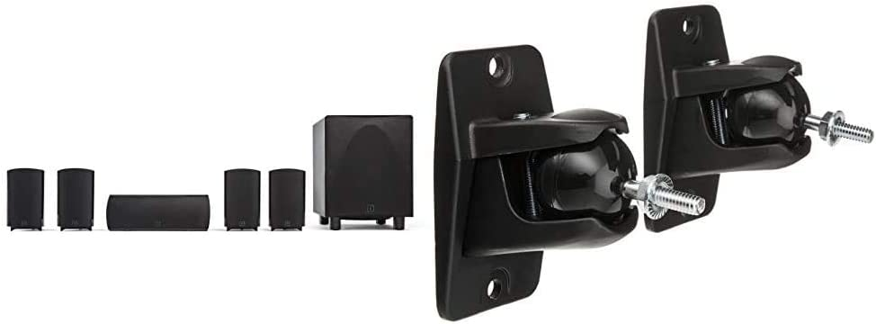 Definitive Technology ProCinema 6D - Compact 5.1 Channel Home Theater Speaker System (2019 Model) & VEPC Pro-Mount 90 - Pair (Black)