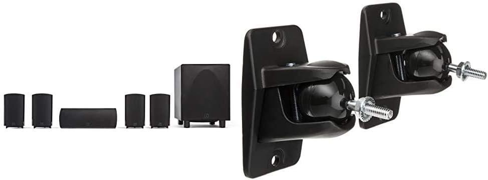 Definitive Technology ProCinema 6D - Compact 5.1 Channel Home Theater Speaker System (2019 Model) & VEPC Pro-Mount 90 - Pair (Black)