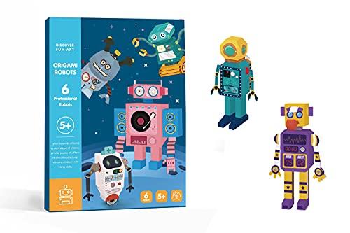 손 공예 DIY3D 종이 세트 팩 6 전문 로봇 10 교통 티저 장난감 교육 장난감 안전하고 비 독성 종이. (로봇)