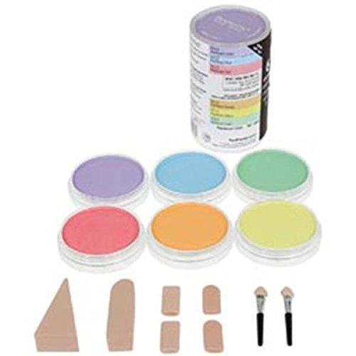 Pastel Shadow - Colorfin 136199 PP30062 PanPastel Pearlescent Artist Pastels Set, 9ml, Yellow, Green, Orange, Blue, Red and Violet, 6-Pack