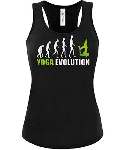 Sport - YOGA EVOLUTION - mujer camiseta Tamaño S to XXL varios colores S-XL Negro / verde