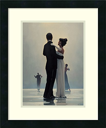 (Amanti Art Framed Home Wall Art Prints | Dance Me to The End of Love by Jack Vettriano | Modern Contemporary, Casual, Classic Decor, Mezzanotte Satin Black Gallery Wood)