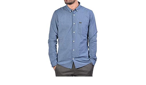 Lee - Camisa Rayas Slim fit con Botones - Marino, XXL: Amazon ...