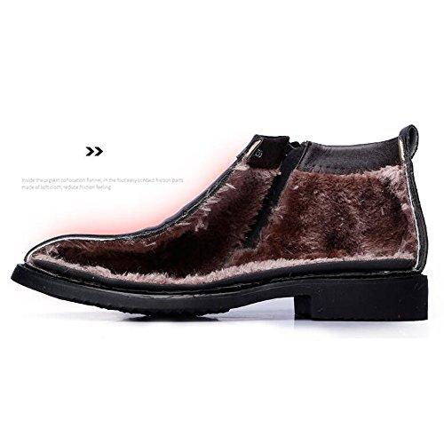 Scarpe retr BMD Stivali invernali Vlevet da di uomo Shoes pelle 7nfaqAO