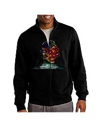 Jacob Men's Sweatshirt Metallica Vintage Full-zip Hoodie Jacket Black