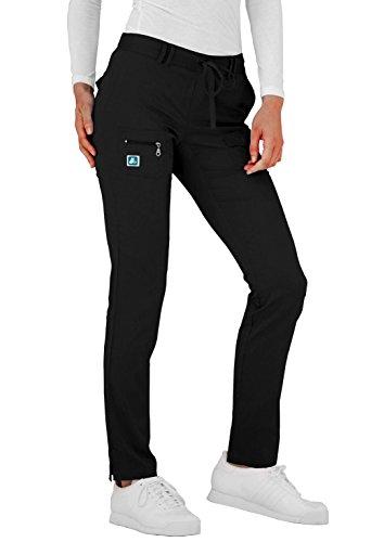 Adar Indulgence Womens Slim Fit Low Rise Tapered Leg 6 Pocket Drawstring Scrub Pants