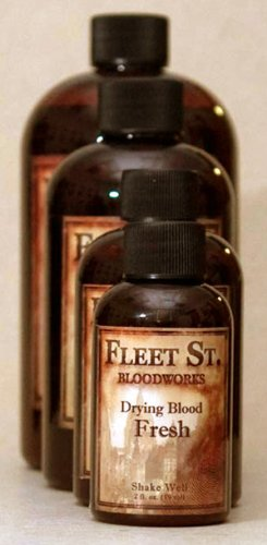 Fleet Street Blood Works Drying Blood FRESH 4 Oz. - Professional Alcohol Based Drying Blood - WASHABLE -