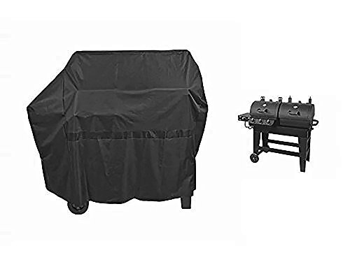 iCOVER 65 Inch 600D Heavy-Duty water proof black Canvas BBQ Barbecue grill cover for gas and charcoal combination style Grill with side table G21609 for Brinkmann char-broil Nexgrill Char-griller