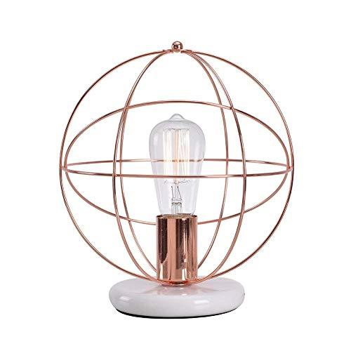Lampworks Table Lamp Modern Design Bedside Lamp Wooden Partition Metal Bracket Desk Lamp Industrial Light for Bedrooms Living Room(Bulb Not Included) ... (D)