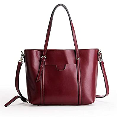 367ae4380f9f Amazon.com  NEW ALL-MATCH FASHION LEATHER HANDBAG TOTE BAG LARGE SPAN  SINGLE WALLET PURSE LUXURY WOMEN DESIGNER TOP-HANDLE SHOULDER BAG Color  Claret  Shoes