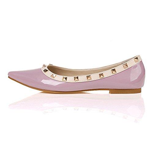 claro Mujer zapatos Jessi Púrpura planos maiernisi studded Punta remaches Ballet Pgw4zWq