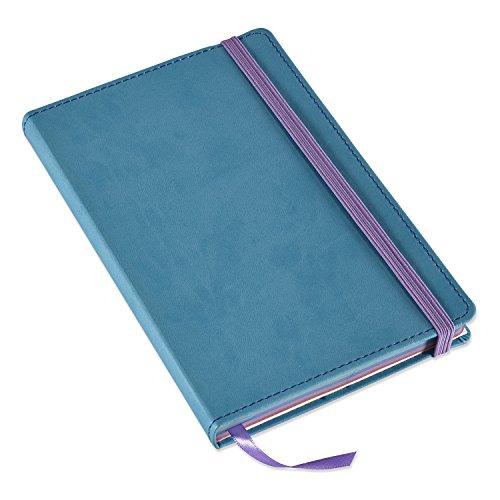 "Astrobrights Italian Leatherette Journal, 5.25"" x 8.5"", Teal, 240 Pages - Italian Leather Journal Edged"