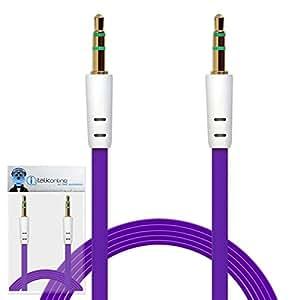 iTALKonline Samsung 10.1Galaxy Tab 210.1P5100/P5110plana 3,5mm dorados Jack a jack macho AUX auxiliar Jack estéreo Conector Cable de conexión de alambre