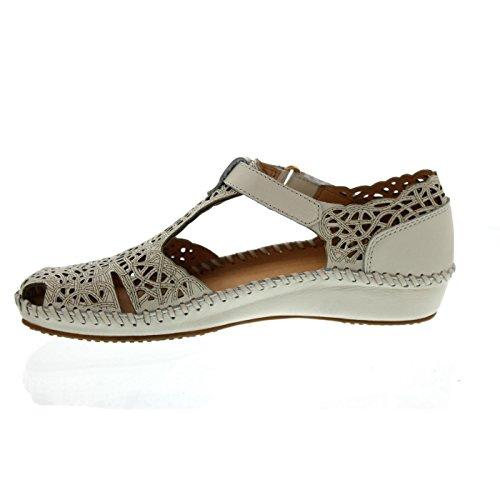 Pikolinos Damen P. Vallarta 655_v17 Geschlossene Sandalen mit Keilabsatz Weiß