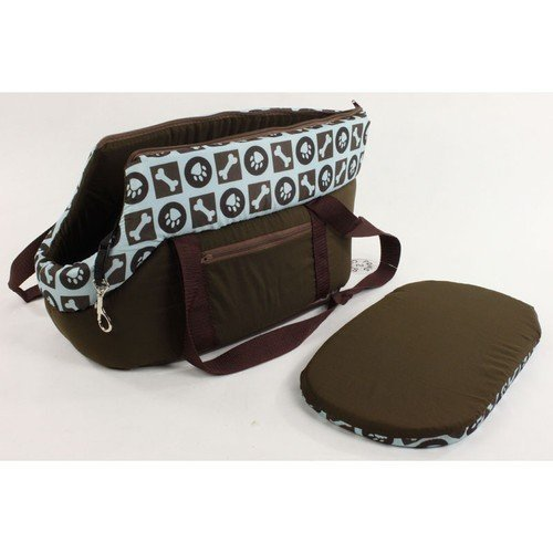20'' (45cm) Pet Dog Cat Carrier Travel Bag Hand Carry Tote Blue and Brown