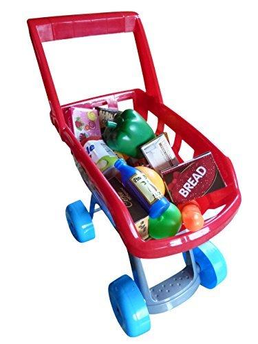 A158, juguete supermercado carro de compras con 22 piezas de accesorios para la tienda de comestibles o la cocina de juguete: Amazon.es: Juguetes y juegos