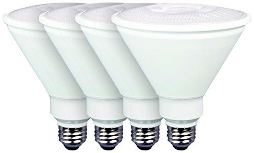 TCP New 90 Watt Equivalent Value 4-Pack, Par38 LED Light Bulbs, Non-Dimmable Warm White, RLVP389030ND4 (Par38 Dimmable Cfl)