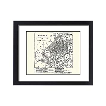 Amazon Com Media Storehouse Framed 20x16 Print Of Map Of