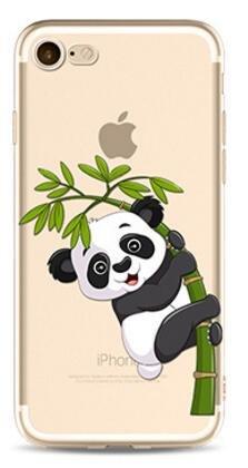 2 opinioni per Cover Panda Per iPhone 6/ 6S 4.7'',Hippolo TPU Gel Silicone Protettivo Skin