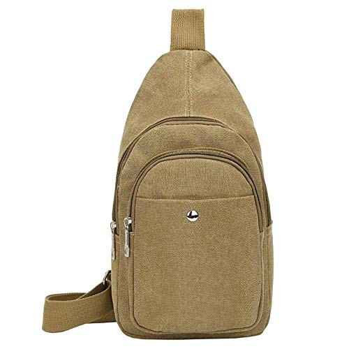 Sports Men Packs Green Bags color Messenger Shoulder Size Canvas black Camel Casual Bag Chest Moontang Crossbody tTCqwT