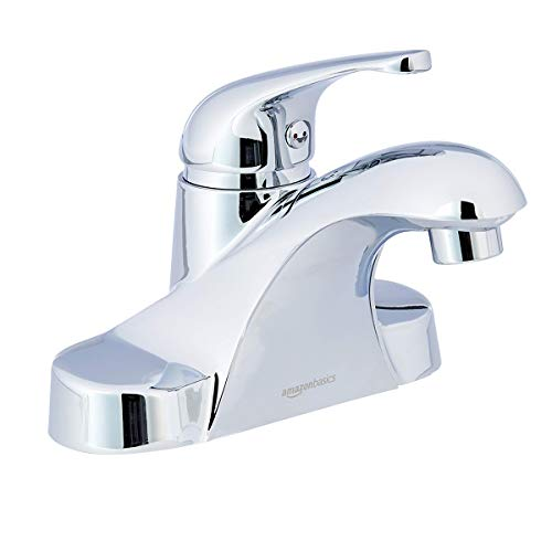 (AmazonBasics Classic single-Handled Basin Faucet - 4