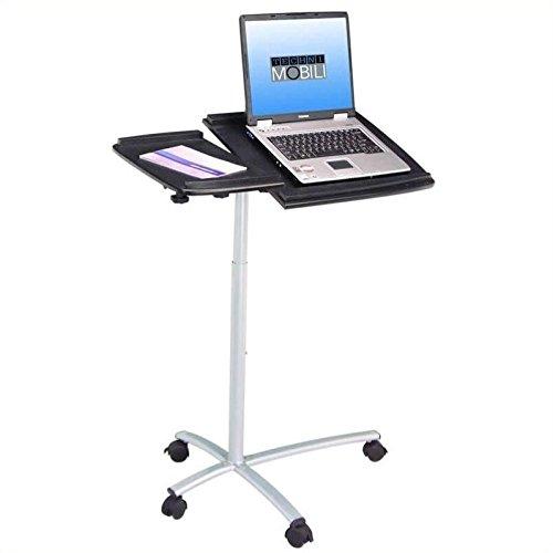 Scranton & Co Adjustable Standing Laptop Cart in Graphite