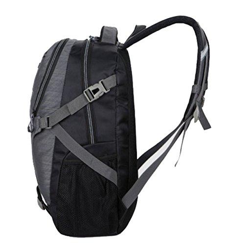 Bulage Bolsas Escuela Ordenadores Hombres Hombro De Alta Capacidad Al Aire Libre Montañismo Ocio Deportes Viajes Mochila Simple Bolsas Grey