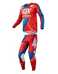 Honda Riding Gear >> Amazon Com Fox Racing 2018 360 Honda Combo Jersey Pants Red Adult