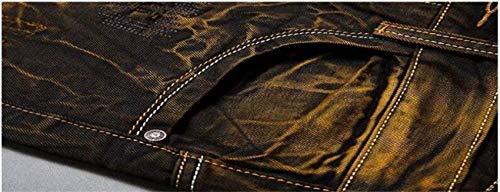 Simplicity Retro Blackgelb Uomo Battercake Cotton Dritti Jeans Original Casual Pantaloni Slim Pants Da Denim Cowboy Comodo YwZPqzY