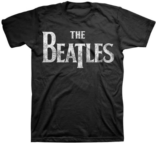 Bravado Men's The Beatles Vintage Logo Black T-Shirt, Black, ()
