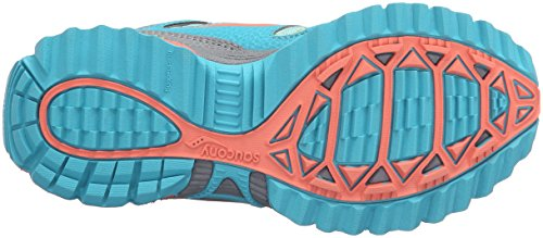 Saucony Excursion Shield Alternative Closure Sneaker (Little Kid) Grey/Turquoise/Coral