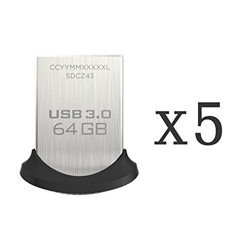 619659115463 - SanDisk Ultra Fit 64GB USB 3.0 Flash Drive SDCZ43-064G-G46 (Pack of 5) ? carousel main 0