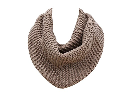 Knitted Infinity Scarf for Men,Women's Simplicity Thick Neck Warmer