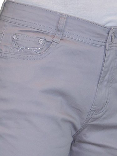 Jeans Capri Diamante Dettaglio Donna 52 Di 42 Da Grigio Con rprw7O